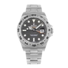 Rolex Explorer II 216570 Black Dial GMT Stainless Steel Automatic Men's Watch