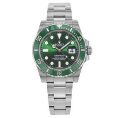 Rolex Submariner 116610LV Hulk Green Steel Ceramic Automatic Men's Watch