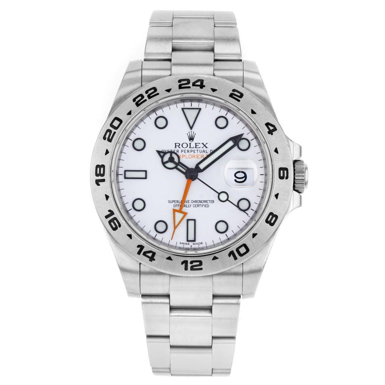 Rolex Explorer II 216570 White Dial GMT Stainless Steel Automatic Men's Watch