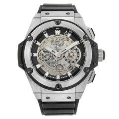 Hublot King Power 701.NX.0170.RX Titanium Silver Stick Dial Automatic Mens Watch