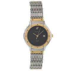 Hublot MDM Classic Senyora Black Dial Date Steel Gold Quartz Ladies Wristwatch