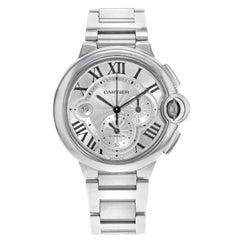 Cartier Ballon Bleu Silver Dial Chronograph Steel Automatic Men's Watch W6920002