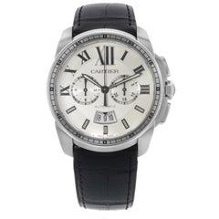 Cartier Calibre de Cartier Silver Dial Steel Automatic Men's Watch W7100046