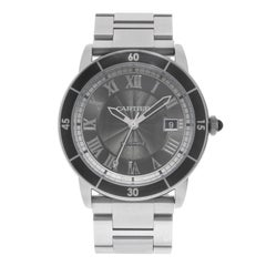 Cartier Ronde Croisiere Grey Dial Stainless Steel Automatic Men's Watch WSRN0011