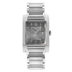 Baume et Mercier Hampton Black Rectangle Dial Steel Quartz Ladies Watch 10021