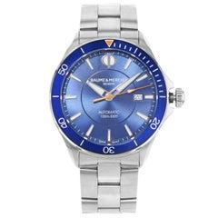 Baume et Mercier Clifton Blue Dial Automatic Men's Watch MOA10378