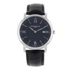 Baume et Mercier Classima Executives Steel Black Dial Quartz Men's Watch 10098