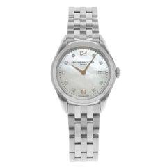 Baume & Mercier Clifton Mother-of-Pearl Diamonds Steel Quartz Watch MOA10176
