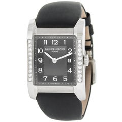 Baume and Mercier Hampton Original Diamonds Black Quartz Ladies Watch MOA10022