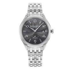 Baume et Mercier Clifton Black Round Dial Steel Automatic Men's Watch 10100