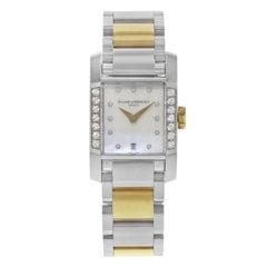 Baume & Mercier Diamant Diamonds Steel Gold-Plated Quartz Ladies Watch MOA08599