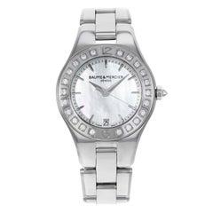 Baume & Mercier Linea 10072 MOP Diamond Bezel Steel Quartz Ladies Watch