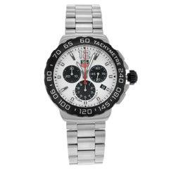 TAG Heuer Formula One White Dial Steel Quartz Men's Sport Watch CAU1111.BA0858
