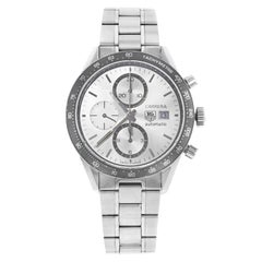 TAG Heuer Carrera Silver Dial Chrono Automatic Men's Sport Watch CV2011.BA0786