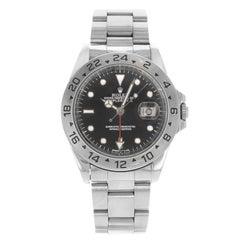 Rolex Explorer II 16570 GMT Black Dial Holes 1996 Steel Automatic Men's Watch