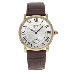 Cartier Rotonde Silver Dial 18 Karat Rose Gold Hand Wind Men's Watch W1556252