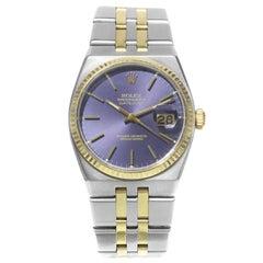 Rolex Datejust Oysterquartz 17013 18 Karat Yellow Gold Steel Quartz Men's Watch