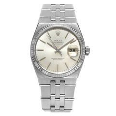 Rolex Datejust Oysterquartz 17014 Silver Index Dial Steel Quartz Men's Watch