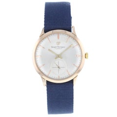 Girard-Perregaux Silver Dial 18 Karat Rose Gold Hand Wind Vintage Men's Watch
