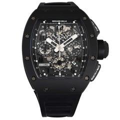 Richard Mille RM 011 Black Phantom PVD Ceramic Carbon Rubber Automatic Watch