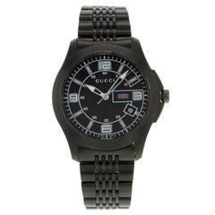 Gucci 126 YA126202 Black Dial PVD Stainless Steel Quartz Men's Watch