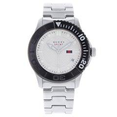 Gucci G-Timeless Sport Steel Silver Dial Quartz Men's Watch YA126250