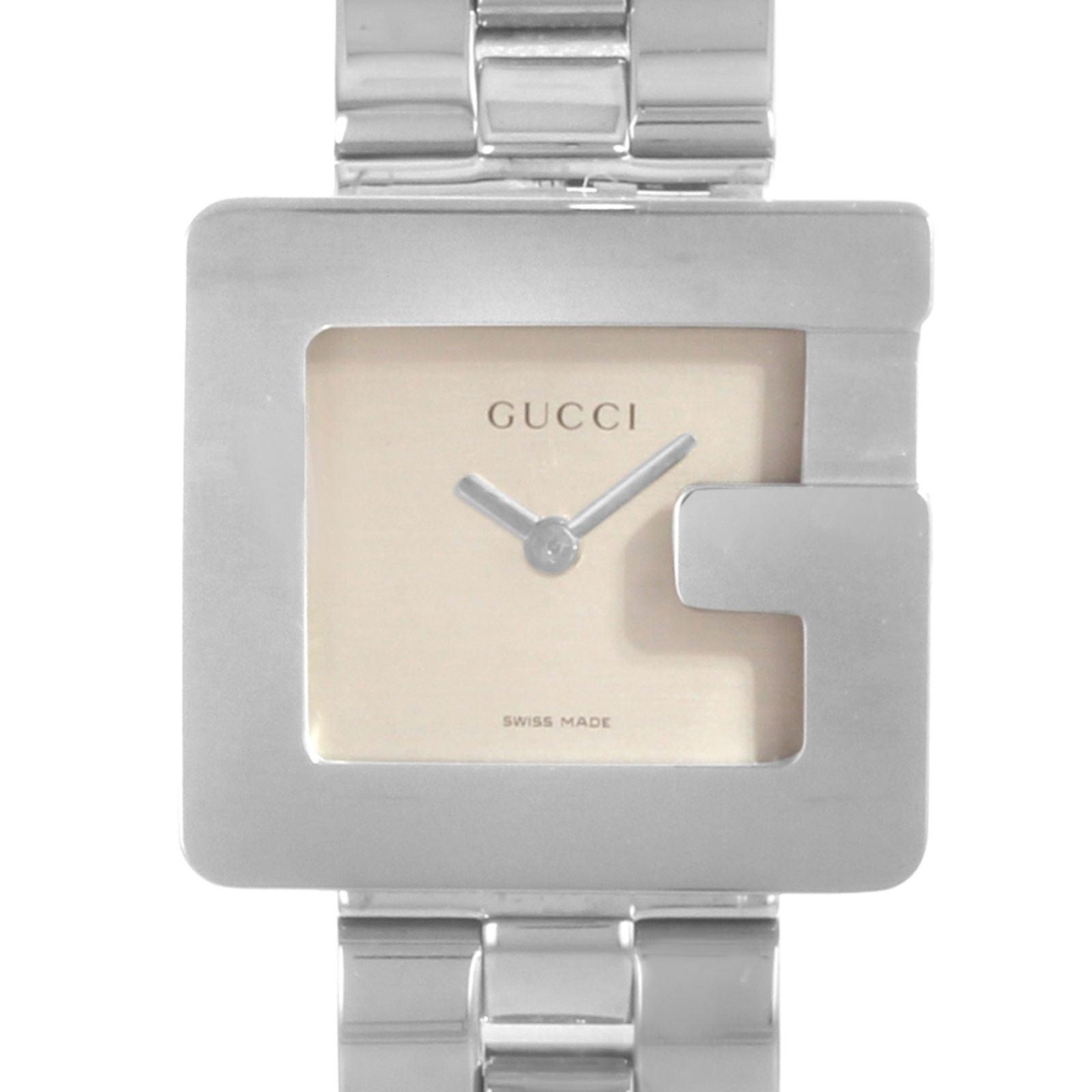 9fcb004f3ae Gucci 3600L Square Face Silver Dial Steel Quartz Ladies Watch YA036504 For  Sale at 1stdibs