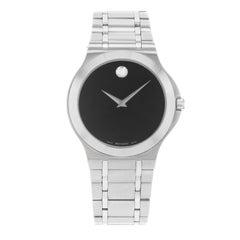 Movado Corporate Exclusive Black Dial Stainless Steel Quartz Men's Watch 0606276