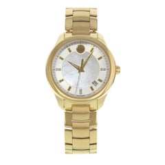 Movado Bellina 0606980 Stainless Steel and Yellow Gold PVD Quartz Ladies Watch