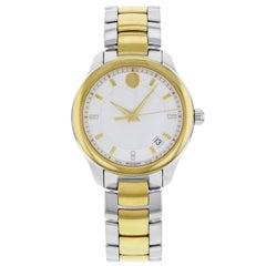 Movado Bellina 0606979 Gold Tone Stainless Steel Quartz Ladies Watch