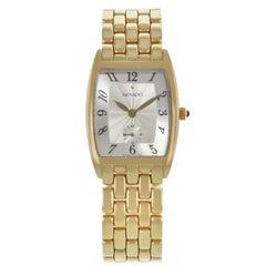 Movado Classic Silver Dial 14 Karat Gold Quartz Ladies Watch 70.09.1461