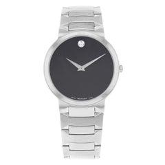 Movado Temo Black Dial Analog Stainless Steel Quartz Men's Watch 0605903