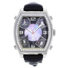 Jacob & Co 5 Time Zones Steel Diamond Quartz Men's Watch JC-SQ5TZ/250/1-MPB