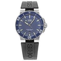 Oris Aquis Date Steel Rubber Open Back Automatic Men's Watch 733-7653-4155RS