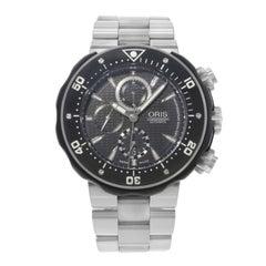 Oris TT1 Black Dial Chronograph Titanium Analog Automatic Mens Watch 67476307154