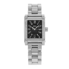 Oris Culture Miles Black Dial Rectangular Diamonds Steel Automatic 56175364968MB