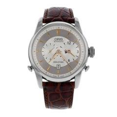 Oris Artelier Worldtimer Silver Dial Steel Automatic Men's Watch 69075814051LS