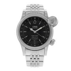 Oris Flight Timer Black Dial Day Date Steel Automatic Men's Watch 63575684064