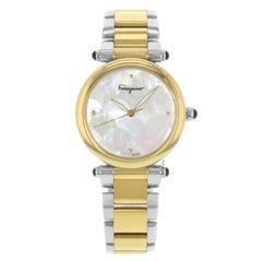 Salvatore Ferragamo Idillio Ion Plated Mother-of-Pearl Dial Steel Ladies Watch