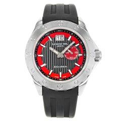 Raymond Weil RW Sport Rubber Black Red Dial Steel Men's Watch 8300-SR1-20041
