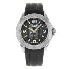 Raymond Weil RW Sport Steel Black Dial Rubber Quartz Men's Watch 8150-SR1-05207