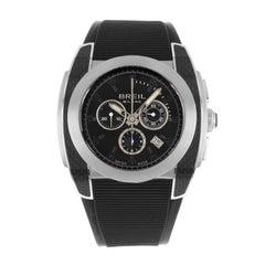Breil Milano Mediterraneo Chronograph Black Dial Steel Quartz Men's Watch BW0381