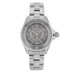 Chanel J12 Chromatic Titanium Ceramic Grey Dial Quartz Ladies Watch H2978