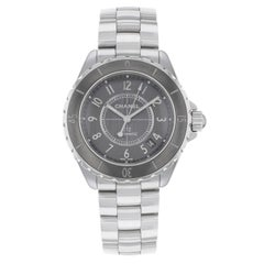 Chanel J12 H2979 Gray Arabic Tonneau Dial Ceramic Steel Automatic Unisex Watch