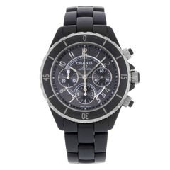 Chanel J12 H0940 Chronograph Ceramic and Steel Automatic Midsize Watch