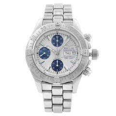 Breitling Superocean Silver Dial Day Date Steel Automatic Men's Watch A13340