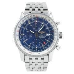 Breitling Navitimer World GMT Blue Dial Automatic Men's Watch A2432212/C561-443A
