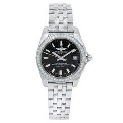 Breitling Galactic Diamond Steel Black Quartz Ladies Watch A7433053/BE08-376A