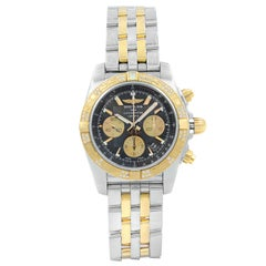 Breitling Chronomat Black Dial Diamond Steel Rose Gold Watch CB0110AA/B968-375C