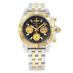 Breitling Chronomat Steel Yellow Gold Automatic Black Watch CB014012/BA53-378C